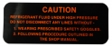 Frigidaire Compressor Warning Decal