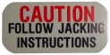 "Jack Base ""Caution"" Tag"