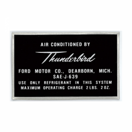 "AC Tag - ""Air Conditioned by Thunderbird"""
