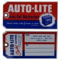 Autolite Sta-Ful Battery Tag