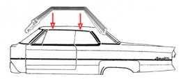 Roof Rail Seal Kit - Over Front & Rear Doors