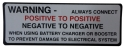 Battery Warning Decal