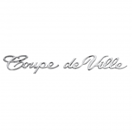 """Coupe deVille"" Emblem - On Rear Quarter Panel"