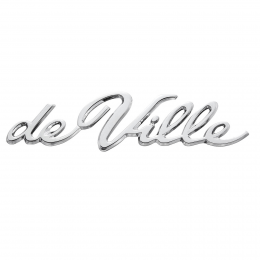 """de Ville"" Emblem - On Rear Quarter Panel"
