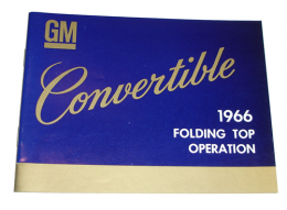 Convertible Top Instruction Manual