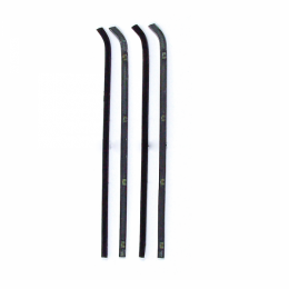 Beltline Weatherstrip - 4 Piece Kit - Black Bead