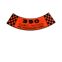 """390-4V Premium Fuel"" Air Cleaner Decal"