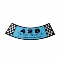 """428 4-V Premium Fuel"" Air Cleaner Decal - Blue"