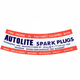 """Autolite Spark Plugs"" Air Cleaner Decal"