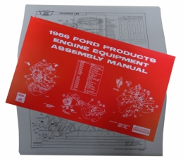 1966 Ford Restoration Parts Engine Equipment Assembly Manual - AM0156