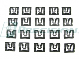 1966 Ford Restoration Parts Windshield Trim Clip Kit - 20 pc. - 19-455K