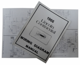 1966 Lincoln Restoration Parts Wiring Diagram Manual - MP0056