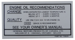 """Canada"" Oil Change Decal"