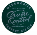 """Oldsmobile Perfect Circle"" Cruise Control Decal"