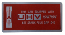 UHV Ignition Decal