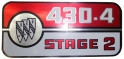 Valve Cover Decal - 430-4 Stage 2