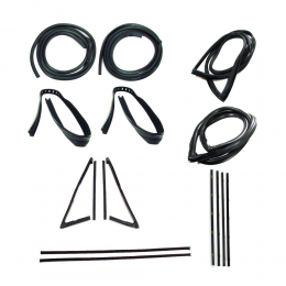 Master Weatherstrip Kit - With Large Back Window / Without Windshield Trim / With Black Beltline