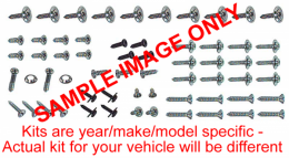 1967 Ford Restoration Parts Exterior Screw Kit - 64 pc. - 19-465K