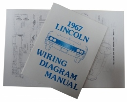 1967    Lincoln    Restoration Parts    Wiring       Diagram    Manual  MP0254