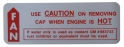 Cooling System Caution Decal