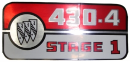 Valve Cover Decal - 430-4 Stage 1
