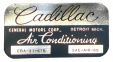"Air Conditioner Evaporator Box Decal - ""Cadillac"""