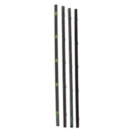 Beltline Weatherstrip - Front Door - Chrome Bead - 4 Piece Kit