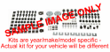 Underhood & Trunk Bolt, Nut, U-Nut & Screw Kit - 185 pc.