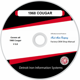 1968 Mercury Cougar Shop Manuals & Parts Books on CDRom