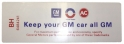 """Keep Your GM All GM"" Air Cleaner Decal - 350 2V"