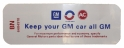 """Keep Your GM All GM"" Air Cleaner Decal - 350 2V With Heavy Duty Filter"