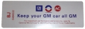 """Keep Your GM All GM"" Air Cleaner Decal - 350 4V / 430 4V"