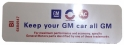 """Keep Your GM All GM"" Air Cleaner Decal - 350 4V HD / 430 4V With Heavy Duty Filter"