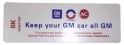 """Keep Your GM All GM"" Air Cleaner Decal - Riviera"