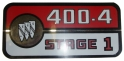 Valve Cover Decal - 400-4 Stage 1