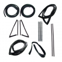 Master Weatherstrip Kit - With Large Back Window / With Chrome Windshield Trim / With Black Beltline