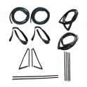 Master Weatherstrip Kit - With Large Back Window / With Chrome Windshield Trim / With Chrome Beltline