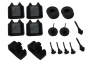 Rubber Bumper Kit - 16 piece - Includes: Door, Hood, Trunk, Glove Box & Ash Tray / Console