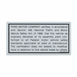 Safety ACT Cert Decal
