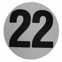 "Assembly Line Production Day Window Sticker - ""22"""