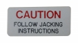 "Jack Base ""Caution"" Decal"
