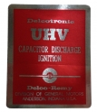 UHV Ignition Capacitor Discharge Decal