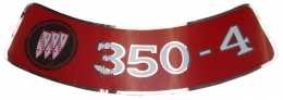 Air Cleaner Decal - 350-4V (LARGE)