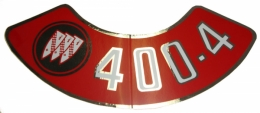 Air Cleaner Decal - 400-4V