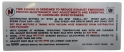 Automatic Transmission Emission Decal - 455-4V Stage I