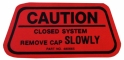 Gas Cap Caution Decal