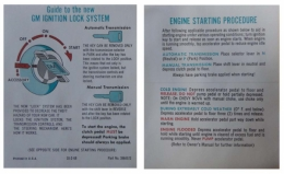 Ignition Lock / Start Instructions - Sleeve 6