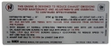 Manual Transmission Emission Decal - 455-4V Stage I