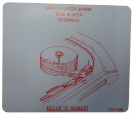 Space Saver Spare Tire Stowage Instructions