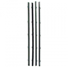 Beltline Weatherstrip - Front Door - Black Bead - 4 Piece Kit